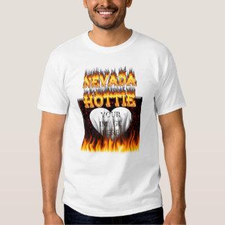 Fuego de Nevada Hottie y corazón de mármol rojo Remeras