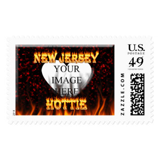 Fuego de New Jersey Hottie y corazón de mármol Sellos