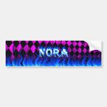 Fuego de Nora y diseño azules de la pegatina para  Pegatina De Parachoque