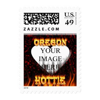 Fuego de Oregon Hottie y corazón de mármol rojo Sello