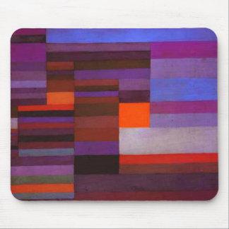 Fuego de Paul Klee en el cojín de ratón de la tard Alfombrillas De Ratones