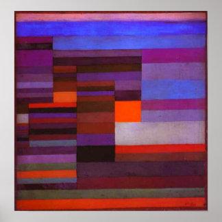Fuego de Paul Klee en el poster de la tarde