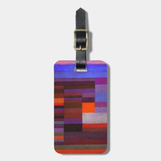 Fuego de Paul Klee en la etiqueta del equipaje de  Etiqueta Para Maleta