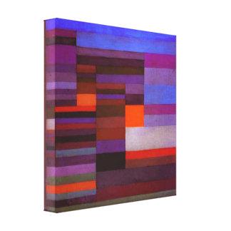 Fuego de Paul Klee en la impresión de la lona de l Impresión En Lienzo Estirada
