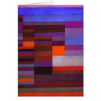 Fuego de Paul Klee en la tarjeta de nota de la tar