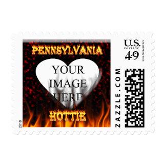 Fuego de Pennsylvania Hottie y corazón de mármol Sello Postal