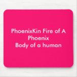 Fuego de PhoenixKin de un PhoenixBody de un ser hu Tapetes De Ratones