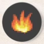 Fuego de Pixeled de 8 pedazos Posavaso Para Bebida
