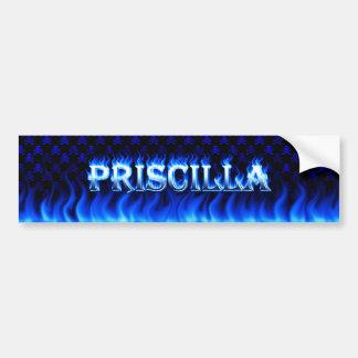 Fuego de Priscilla y desi azules de la pegatina Pegatina Para Auto