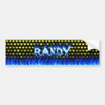 Fuego de Randy y diseño azules de la pegatina para Pegatina De Parachoque
