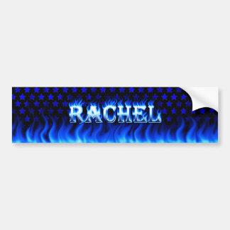 Fuego de Raquel y diseño azules de la pegatina Pegatina Para Auto