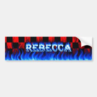 Fuego de Rebecca y diseño azules de la pegatina Pegatina Para Auto