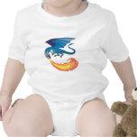 fuego de respiración del dragón azul trajes de bebé