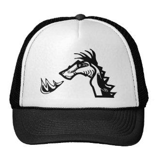 Fuego de respiración del dragón gorros bordados