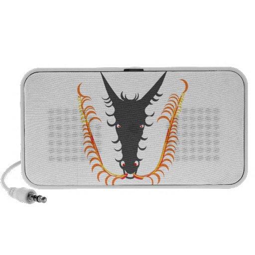 Fuego de respiración del dragón mp3 altavoces
