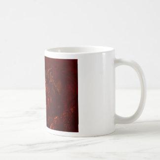 Fuego de respiración del gran dragón rojo de la fa tazas de café