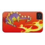 Fuego de respiración del Stegosaurus de los niños  iPhone 4 Cárcasa