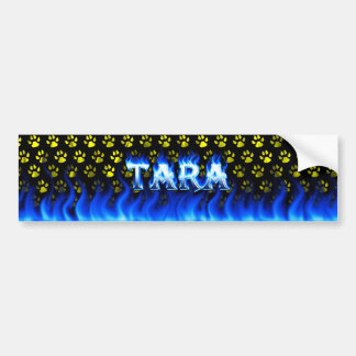 Fuego de Tara y diseño azules de la pegatina para  Pegatina De Parachoque