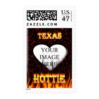 Fuego de Tejas Hottie y corazón de mármol rojo Sello