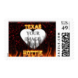 Fuego de Tejas Hottie y corazón de mármol rojo Franqueo