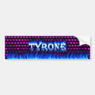Fuego de Tyrone y diseño azules de la pegatina par Pegatina De Parachoque