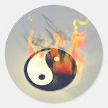 Fuego de Yin Yang Pegatinas