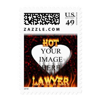 Fuego del abogado y mármol calientes del rojo de envio