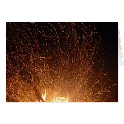 Fuego del baile tarjetón