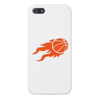 Fuego del baloncesto iPhone 5 carcasa