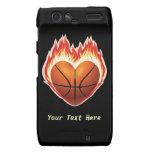 Fuego del baloncesto (personalizado) droid RAZR carcasa