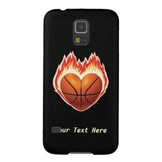 Fuego del baloncesto (personalizado) carcasas de galaxy s5