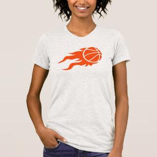 Fuego del baloncesto t shirts