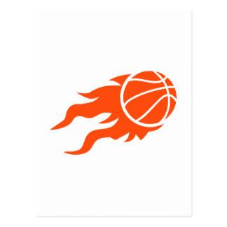 Fuego del baloncesto postales