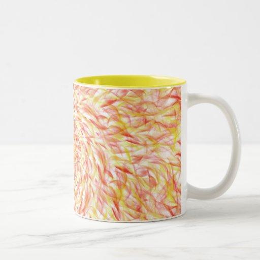 fuego del caleidoscopio tazas de café