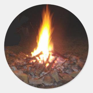 Fuego del campo de Holliday Pegatinas Redondas