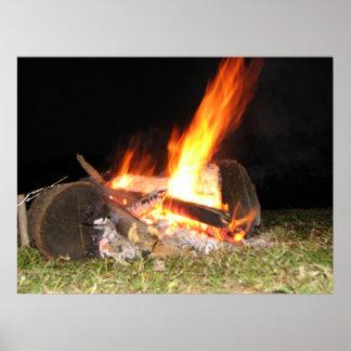 fuego del campo póster