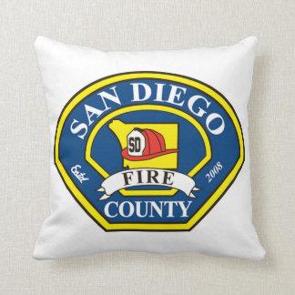 Fuego del condado de San Diego Cojín