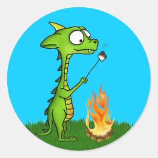 Fuego del dragón pegatina