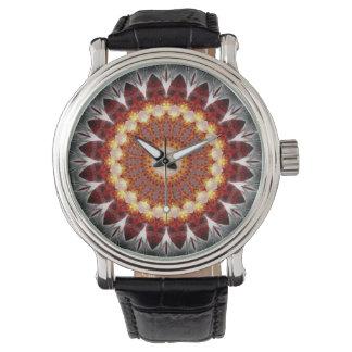 fuego del elemento de la mandala creado por Tutti Reloj