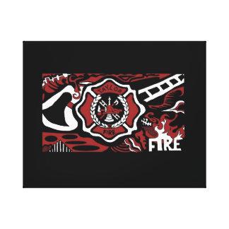 fuego del fuego del fuego impresiones en lienzo estiradas