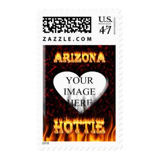fuego del hottie de Arizona y mármol del rojo de Estampilla
