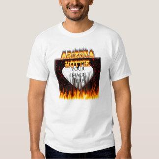 fuego del hottie de Arizona y mármol del rojo de Remeras