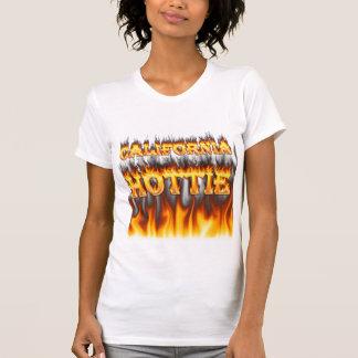 Fuego del hottie de California y camisetas sin