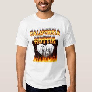 Fuego del hottie de California y diseño de las Remera