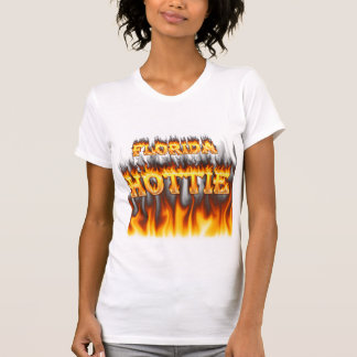 Fuego del hottie de la Florida y diseño de las Playera