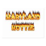 Fuego del hottie de Maryand y diseño de las llamas Tarjetas De Visita