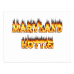 Fuego del hottie de Maryand y diseño de las llamas Postales