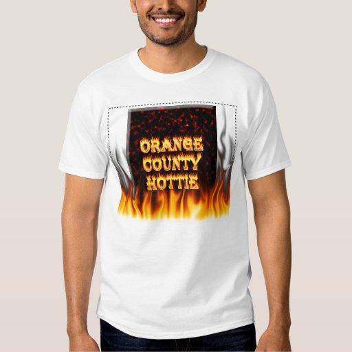 Fuego del hottie del Condado de Orange y mármol Polera