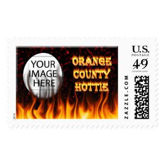 Fuego del hottie del Condado de Orange y mármol Franqueo