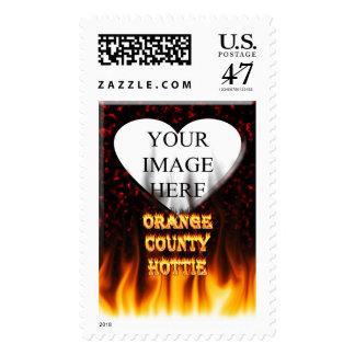 Fuego del hottie del Condado de Orange y mármol Sello Postal